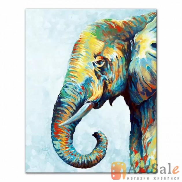 Картина маслом Слон, ART: AI0011