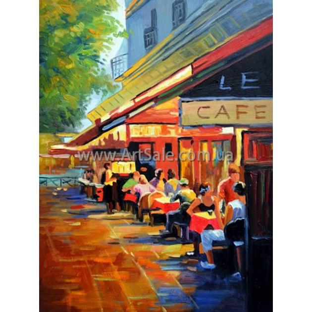 """Купить картину маслом """"Уличное Кафе"""""""
