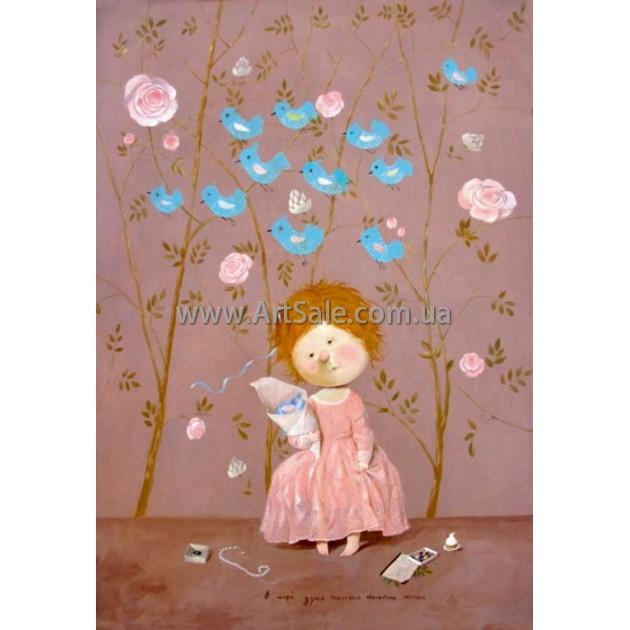 Купить картину Гапчинской В моей душе поселились прелестные птички