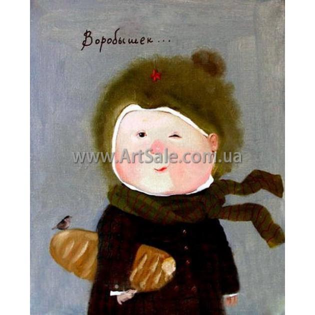 Купить картину Гапчинской Воробышек