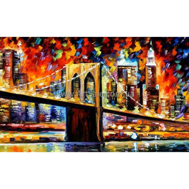"Купить интерьерную картину ""Бруклинский Мост"""