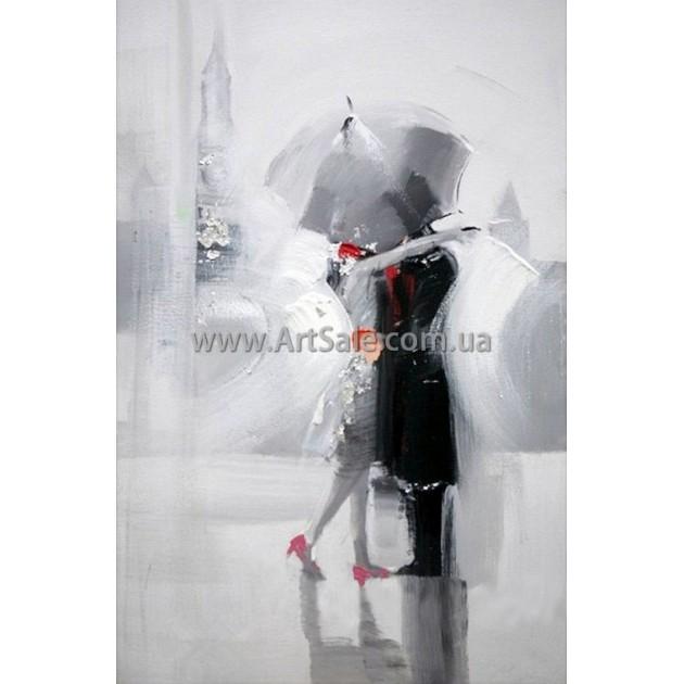 """Купить интерьерную картину """"Пара в Лондоне"""""""