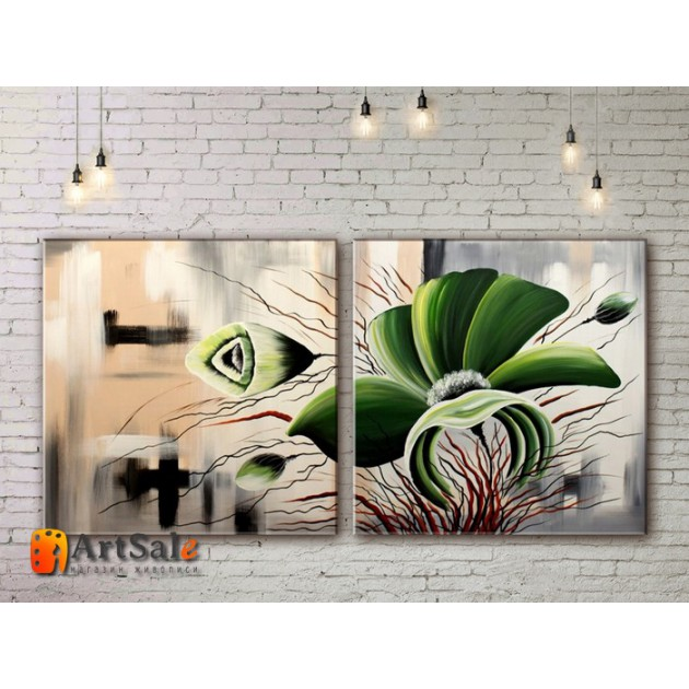 Модульные Картины, рисованные маслом, Art. MJ17_2_007