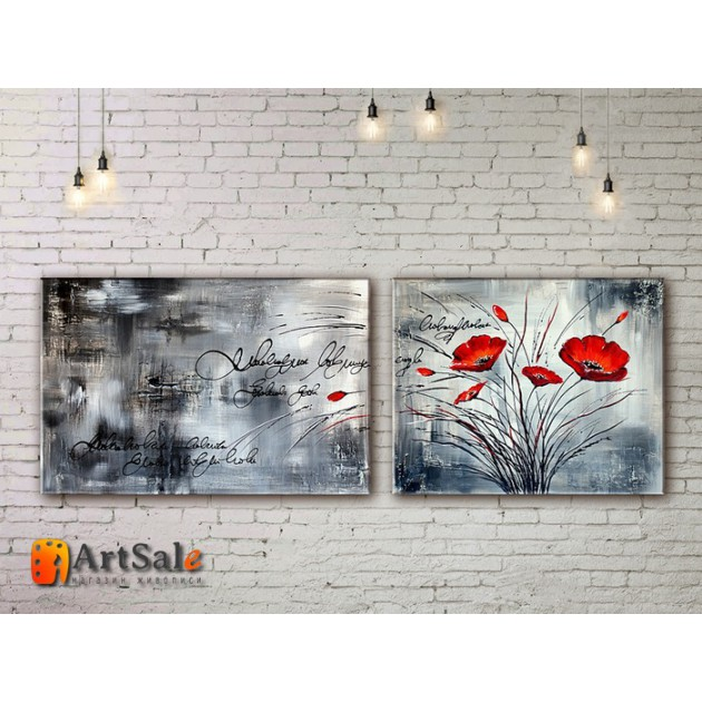 Модульные Картины, рисованные маслом, Art. MJ17_2_019