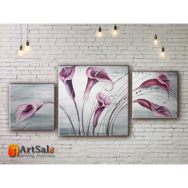 Модульные Картины, рисованные маслом, Art. MJ17_3_015