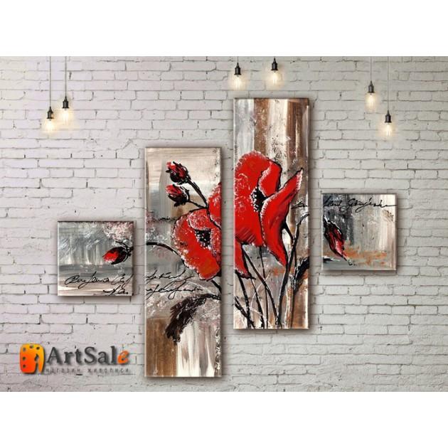Модульные Картины, рисованные маслом, Art. MJ17_4_005