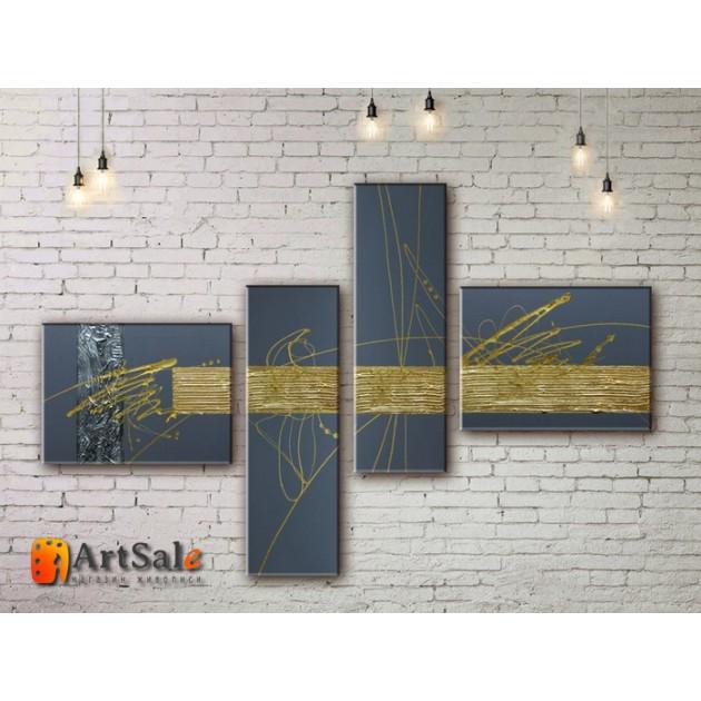 Модульные Картины, рисованные маслом, Art. MJ17_4_007