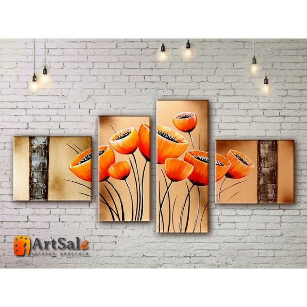 Модульные Картины, рисованные маслом, Art. MJ17_4_009