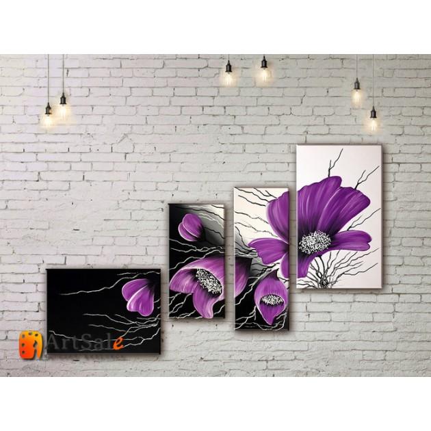 Модульные Картины, рисованные маслом, Art. MJ17_4_011