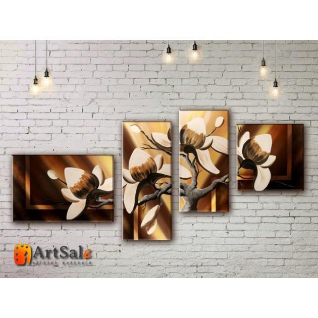 Модульные Картины, рисованные маслом, Art. MJ17_4_015