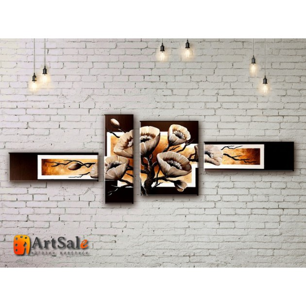 Модульные Картины, рисованные маслом, Art. MJ17_4_027