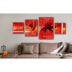 Модульные Картины, рисованные маслом, Art. MJ17_4_043