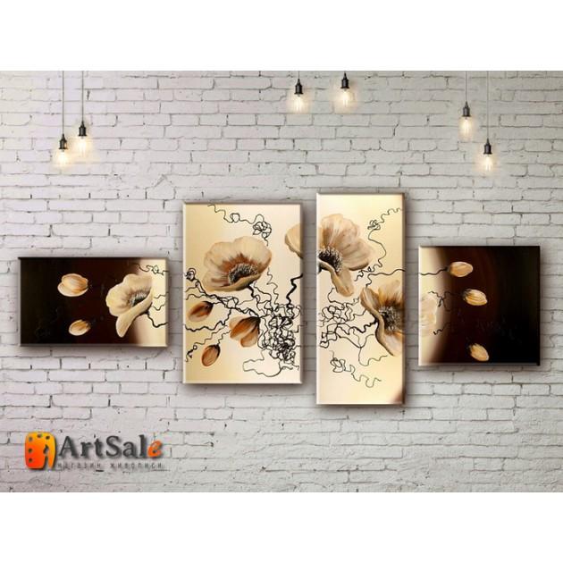 Модульные Картины, рисованные маслом, Art. MJ17_4_069