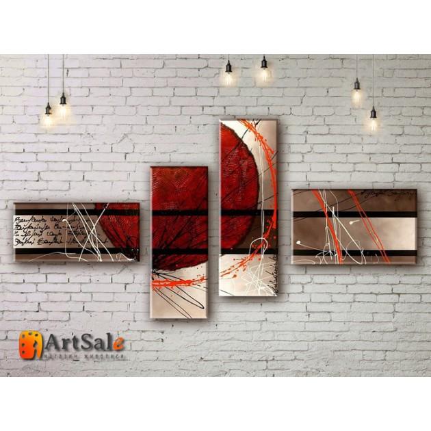 Модульные Картины, рисованные маслом, Art. MJ17_4_073