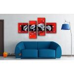 Модульные Картины, рисованные маслом, Art. MJ17_4_075