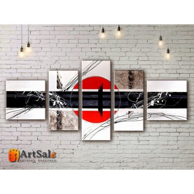 Модульные Картины, рисованные маслом, Art. MJ17_5_003