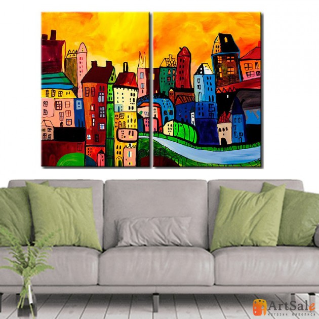 Модульная картина, городской пейзаж ART.: KGM0001