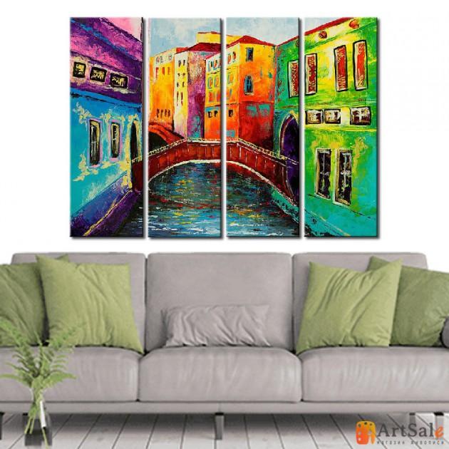 Модульная картина, городской пейзаж ART.: KGM0046