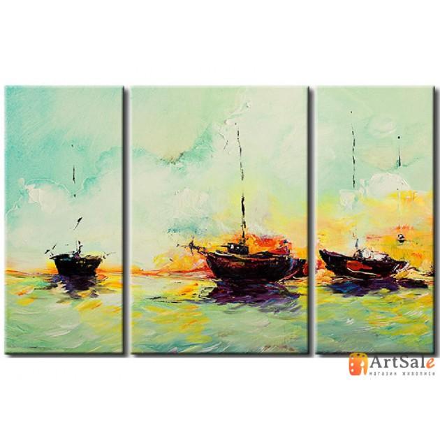 Модульная картина, морской пейзаж ART.: KMM0011