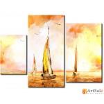 Модульная картина, морской пейзаж ART.: KMM0014