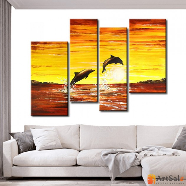 Модульная картина, морской пейзаж ART.: KMM0031
