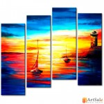 Модульная картина, морской пейзаж ART.: KMM0034