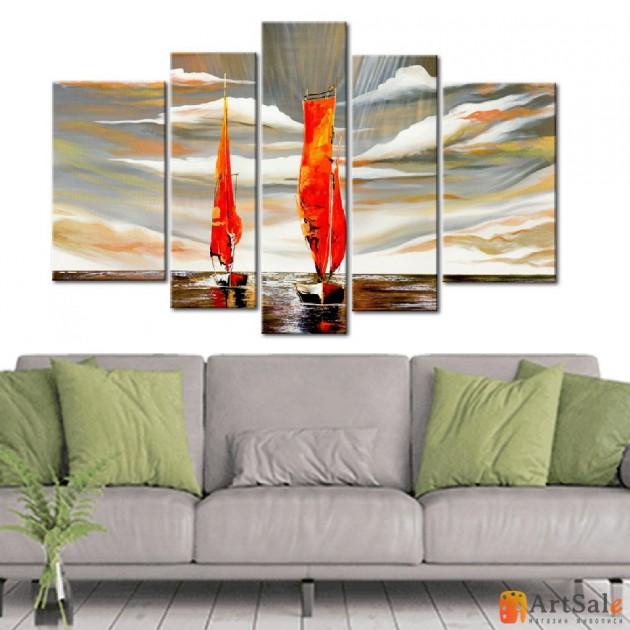 Модульная картина, морской пейзаж ART.: KMM0037