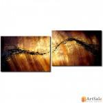 Модульная картина, абстракция коричневая ART.: KAM0009