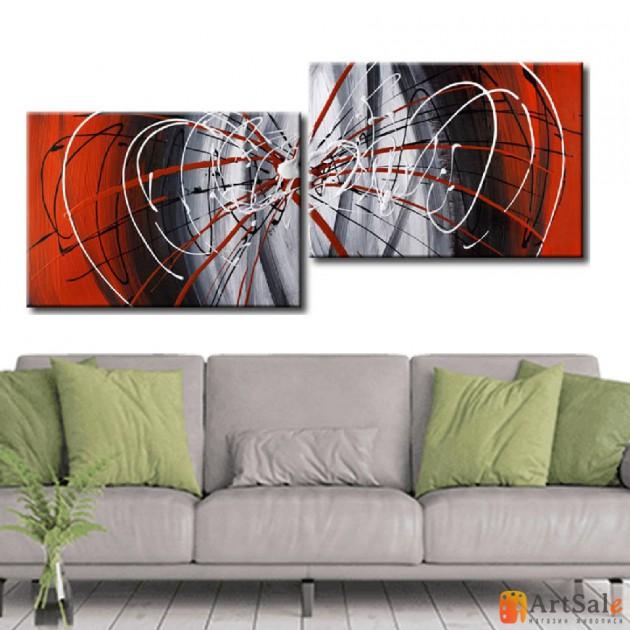 Модульная картина, абстракция ART.: KAM0047