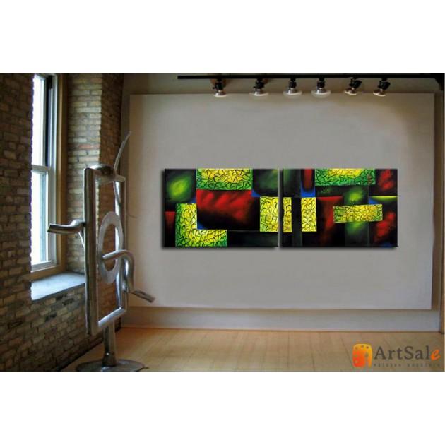 Модульная картина, абстракция ART.: KAM0056