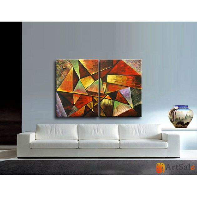Модульная картина, абстракция ART.: KAM0061