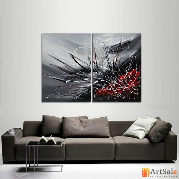 Модульная картина, абстракция ART.: KAM0063