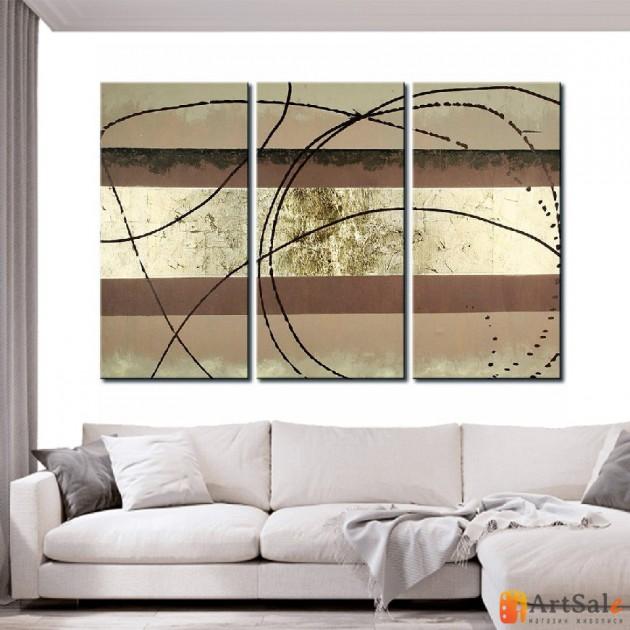 Модульная картина, абстракция ART.: KAM0079