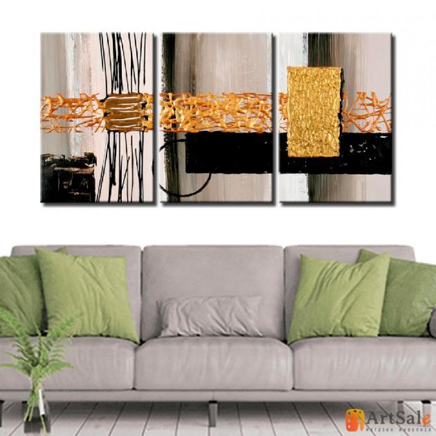 Модульная картина, абстракция ART.: KAM0158