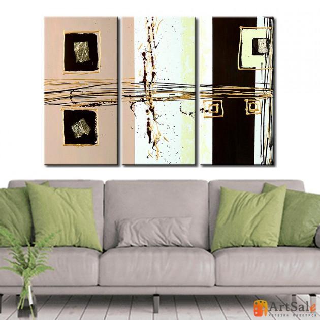 Модульная картина, абстракция ART.: KAM0164
