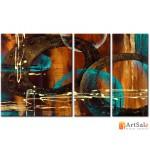 Модульная картина, абстракция ART.: KAM0371
