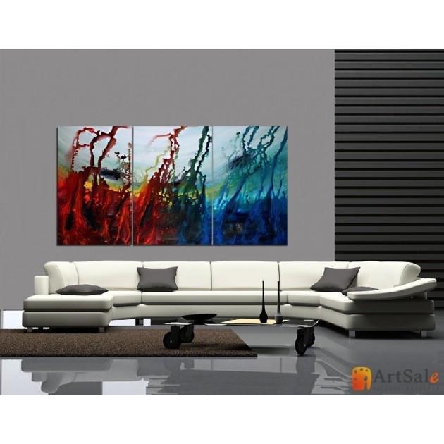 Модульная картина, абстракция ART.: KAM0517