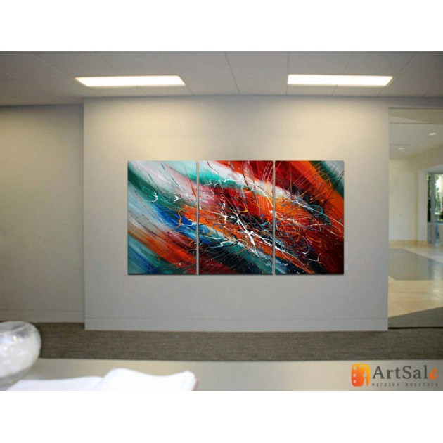 Модульная картина, абстракция ART.: KAM0519