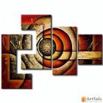 Модульная картина, абстракция ART.: KAM0550