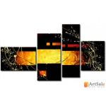 Модульная картина, абстракция ART.: KAM0585
