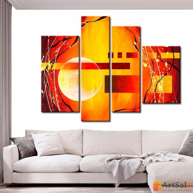 Модульная картина, абстракция ART.: KAM0622