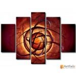 Модульная картина, абстракция ART.: KAM0900