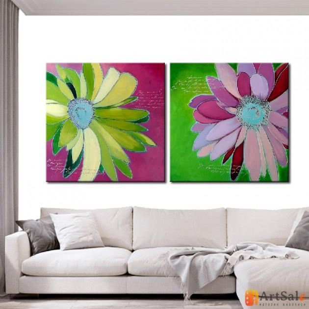 Модульная картина цветы, ART.: KCC0001