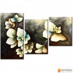 Модульная картина цветы, ART.: KCC0020