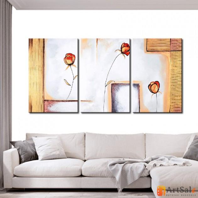 Модульная картина розы, ART.: KCC0022