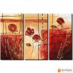 Модульная картина цветы розы, ART.: KCC0025
