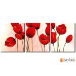 Модульная картина тюльпаны, ART.: KCC0048