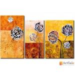 Модульная картина цветы, ART.: KCC0082
