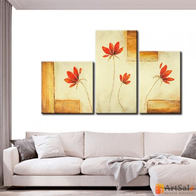 Модульная картина цветы, ART.: KCC0092