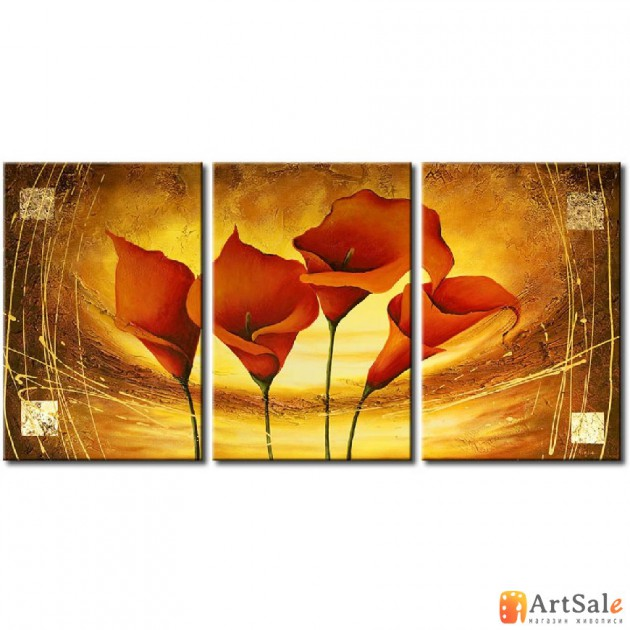 Модульная картина каллы, ART.: KCC0099